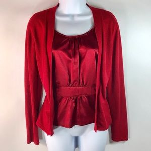 APT 9 Cardigan with Built In Camisole Front